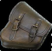 La Rosa Harley-Davidson All Softail Models Left Side Solo Saddle Bag  Swingarm Bag Rustic Brown w/Rustic Hardware