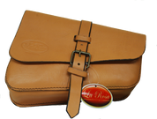 Left Side Leather Solo Saddle Bag for 2016 & Up Triumph Bobber - Tan Leather