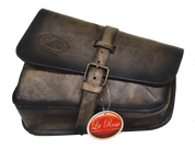 Left Side Hand Dyed Solo Saddle Bag for 2016 & Up Triumph Bobber-Rusty