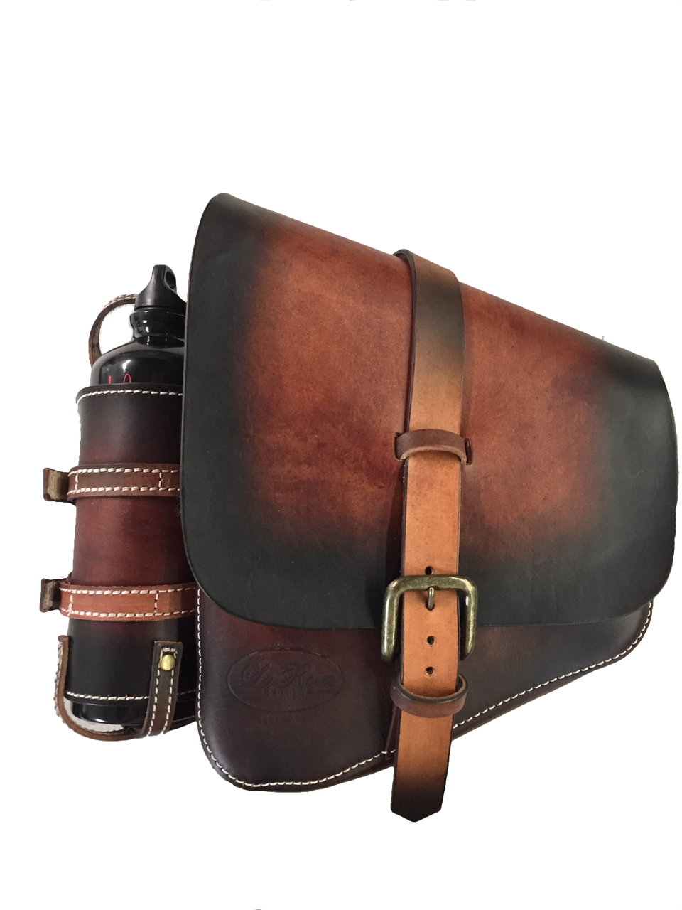 03dc56890ab1 La Rosa Harley-Davidson All Softail Models Left Side Solo Saddle Bag  Swingarm Bag - Hand Dyed Antique Leather with Fuel Bottle Holder. Price    285.00. Image ...