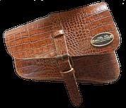 Right Side Solo Saddle Bag for 2016 & Up Triumph Bobber Brown Alligator