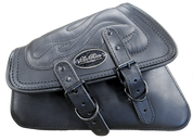 04-UP Harley-Davidson Sportster  Nightster 1200  Forty-Eight 72  Roadster Left Side Saddle Bag Swingarm Bag - Black w/ Flame Stitching