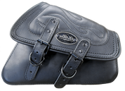 04-UP Harley-Davidson Sportster Nightster 1200  Forty-Eight 72  Roadster Right Side Saddle Bag Swingarm Bag - Black w/ Flame Stitching