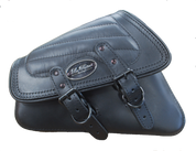 04-UP Harley-Davidson Sportster  Nightster 1200  Forty-Eight 72  Roadster Left Side Saddle Bag Swingarm Bag - Black w/ Tuk n Roll Stitching