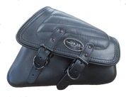 04-UP Harley-Davidson Sportster Nightster 1200  Forty-Eight 72  Roadster Right Side Saddle Bag Swingarm Bag - Black w/ Tuk n Roll Stitching