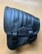 La Rosa Harley-Davidson All Softail Models Left Side Solo Saddle Bag  Swingarm Bag Black Vertical Tuk n Roll