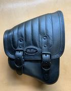 La Rosa Harley-Davidson All Softail Models Right Side Solo Saddle Bag  Swingarm Bag Black Vertical Tuk n Roll