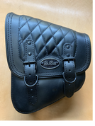 La Rosa Harley-Davidson All Softail Models Left Side Solo Saddle Bag  Swingarm Bag Black Diamond Tuk