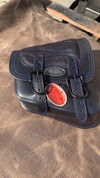 La Rosa Harley-Davidson All Softail Models Right Side Solo Saddle Bag  Swingarm Bag Blue Thread