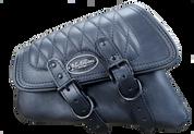 SALE!!04-UP Harley-Davidson Sportster  Nightster 1200  Forty-Eight 72  Roadster Left Side Saddle Bag Swingarm Bag - Black w/ Diamond Tuk Stitching