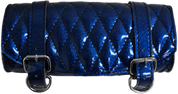 SALE!!Front Forks Tool Bag Blue Metal Flake Diamond Stitched