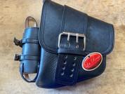 SALE!!La Rosa Harley-Davidson All Softail Models Left Side Saddle Bag  Swingarm Bag Black Front Wide Strap with Fuel Bottle Holder