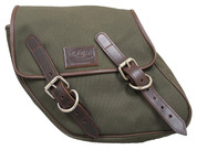 SALE!! 96-UP Harley-Davidson Dyna Wide Glide FXR Left Side Solo Saddle Bag Eliminator Green Army Canvas