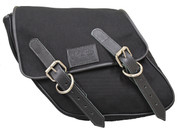 SALE!!P Harley-Davidson Dyna Wide Glide FXR Left Side Solo Saddle Bag Eliminator Black Canvas