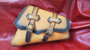 Copy of 04-UP Harley-Davidson Sportster Right Side Saddle Bag Antique Tan claSICK