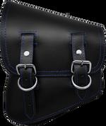 La Rosa Harley-Davidson All Softail Models Left Side Solo Saddle Bag  Swingarm Bag Black Plain Blue Thread