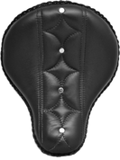 "16"" Bad Ass Solo Seat Black Diamond & Button Tuk"