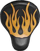 "16"" Classic Solo Seat Black / Tan Inlay Flames"