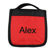 The Red/Black CD Case is shown here personalized with a Block Style monogram