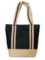 Monogrammed Ribbon Trimmed Medium Tote