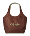Monogrammed Microfiber Large Hobo Purse