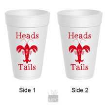 Crawfish Boil Heads or Tails Styrofoam Cups