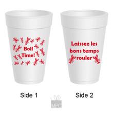 Crawfish Boil Time Laissez Les Bons Temps Rouler Styrofoam Cups
