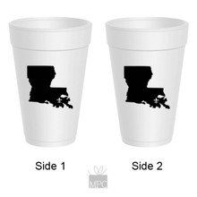 Louisiana Fleur De Lis Styrofoam Cups
