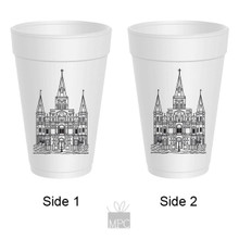 St. Louis Cathedral New Orleans Styrofoam Cups
