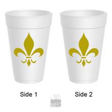 Styrofoam Cup - Fleur de Lis - 16 oz - 10 ct. FDL14