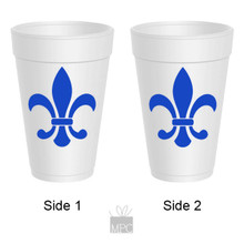 Styrofoam Cup - Fleur De Lis - 16 oz - 10 ct. FDL21