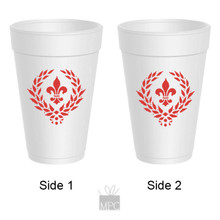Styrofoam Cup - Fleur De Lis - 16 oz - 10 ct. FDL23
