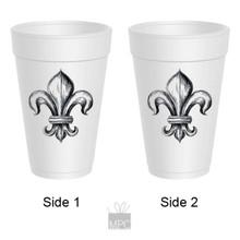 Styrofoam Cup - Fleur De Lis - 16 oz - 10 ct. FDL24