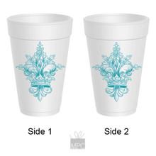 Styrofoam Cup - Fleur De Lis - 16 oz - 10 ct. FDL26