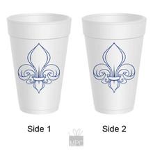 Styrofoam Cup - Fleur De Lis - 16 oz - 10 ct. FDL25
