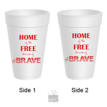 Patriotic Styrofoam Cup  Home of the Free     JU3