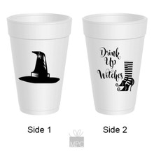 Halloween Drink Up Witches Styrofoam Cups