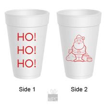 Merry Christmas Ho Ho Ho Styrofoam Cups
