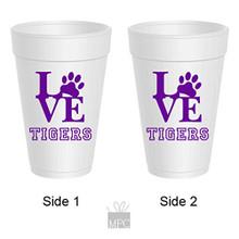 Styrofoam Cup  LOVE Tigers     TS40