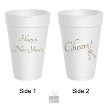 New Year Styrofoam Cup Happy New Year's    NY38