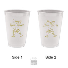 New Year Frost Flex Plastic Cup  Happy New Year's (Clink)    NY22