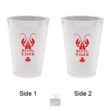 Crawfish Boil Time Frost Flex Plastic Cups