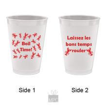 Crawfish Boil Time Laissez Les Bons Temps Rouler Frost Flex Plastic Cups