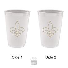 Frost Flex Plastic Cup  Fleur de Lis     FDL19