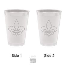 Frost Flex Plastic Cup  Fleur De Lis     FDL20