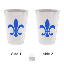 Frost Flex Plastic Cup  Fleur De Lis     FDL21