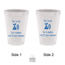 Frost Flex Plastic Cup  Birthday 40TH    HB4