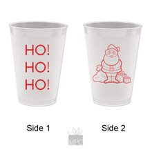 Merry Christmas Ho Ho Ho Frost Flex Plastic Cups
