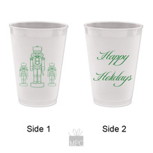 Christmas Frost Flex Plastic Cup  Happy Holidays   CH11