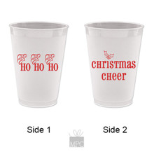Christmas Cheer Frost Flex Plastic Cups